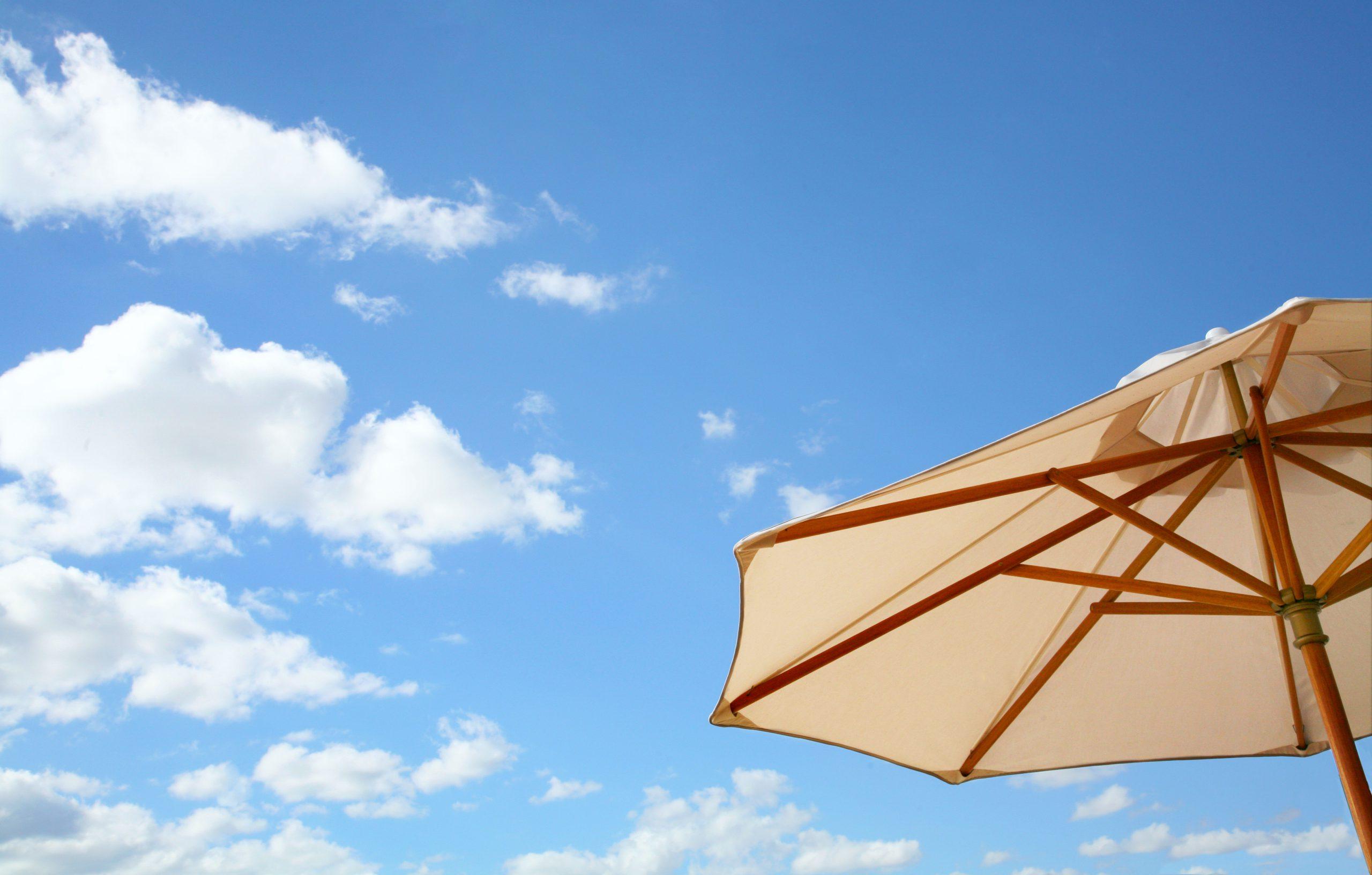 zwevende parasol